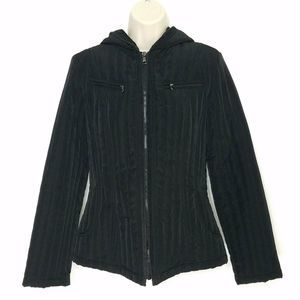 Esprit Womens Coat SZ Small Black Quilted Puffer